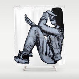 Graffiti. Gadget Kid Shower Curtain