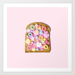Pink Sugar Toast Art Print