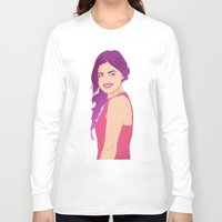 pretty little liars Long Sleeve T-shirts featuring Pretty little liars - Lucy Hale by Lais Design