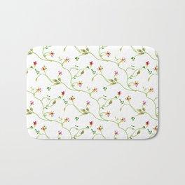 Chic Small Rose Pattern  Bath Mat