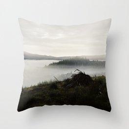 Fog (once again) Throw Pillow