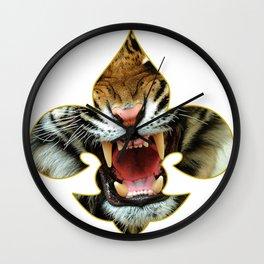 LSU TIGER FLEUR DE LIS Wall Clock