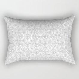 White & Grey Mosaic Rectangular Pillow