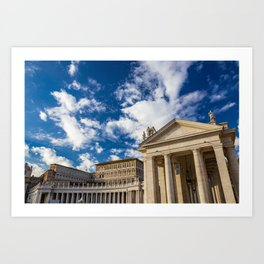 Piazza San Pietro, in the Vatican City; Rome Italy Art Print
