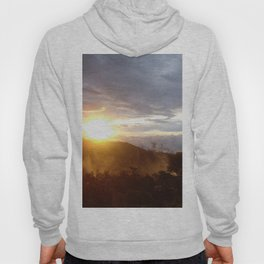 Sunset over the jungle in Costa RIca Hoody