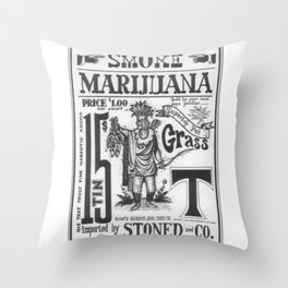 SMOKE MARIJUANA Throw Pillow
