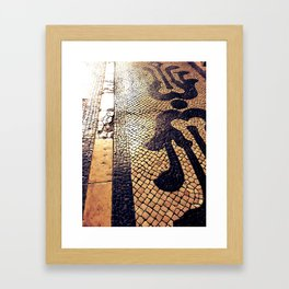Lisbon's pavement Framed Art Print