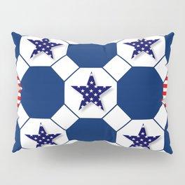 Nautical Patriotic Hexagons Pillow Sham
