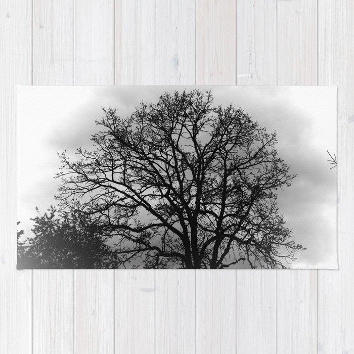 Spooky Fall Tree Rug