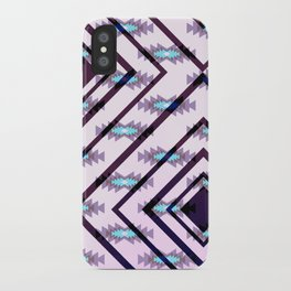 Ultraviolet ethnic pattern iPhone Case