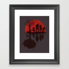 A Family Once (dark version) Framed Art Print