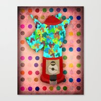 gumball Canvas Prints featuring Gumball Unicorns by That's So Unicorny