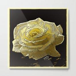 Floral Embosses: Roses 05-03 Metal Print