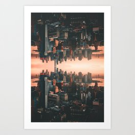 New York City Skyline Surreal Art Print