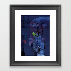 Fade Into The Blue-模糊的记忆 Framed Art Print