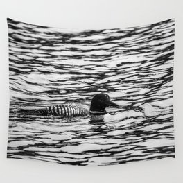 Loon Sighting Wall Tapestry