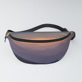 Sunset At The Mountains. Purple Dreams Fanny Pack