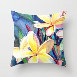 Sweet Plumeria 4 Throw Pillow