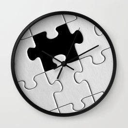White Puzzle Wall Clock