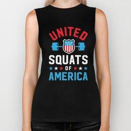 United Squats Of America v2 Biker Tank