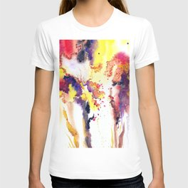 Abstract watercolor flowers T-shirt