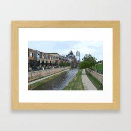 Denver Condos Lining Cherry Creek As Seen From Confluence Park Framed Art Print