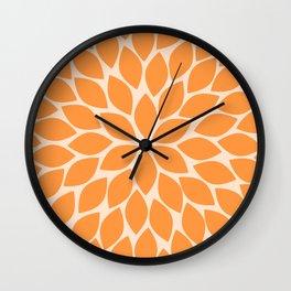 Sherbet Chrysanthemum Wall Clock