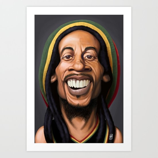 Celebrity Sunday - Robert Nesta Marley Art Print