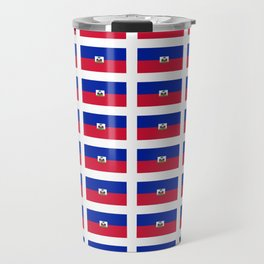 Flag of Haiti-haitan,haitien,port aux princes,cap haitien,carrefour,antilles. Travel Mug