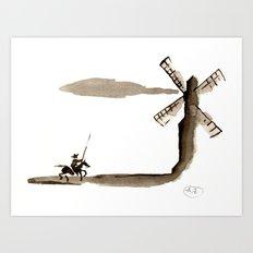Don Quixote de la Mancha Art Print