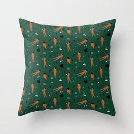 Green Memories Throw Pillow