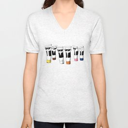 Reservoir Colours (with blood and light colored t-shirts) Unisex V-Neck