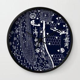 Navy Blue art Wall Clock