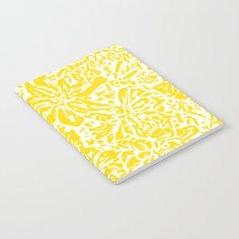Gen Z Yellow Marigold Lino Cut Notebook