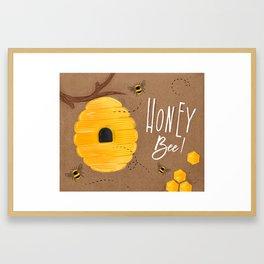 Honey bee craft Framed Art Print