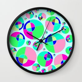 Bubble pink & green Wall Clock