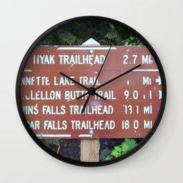 Trail Miles Wall Clock