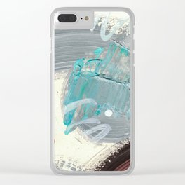 Snowy Walk in the Woods 09 Clear iPhone Case