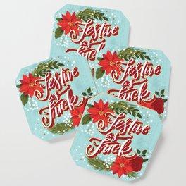 Pretty Sweary Holidays: Festive as Fuck Coaster