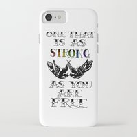 larry stylinson iPhone & iPod Cases featuring One that's strong as you are free (Larry Stylinson) by Arabella