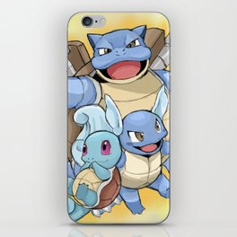 The evolutions of Squirtle iPhone Skin