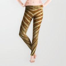 Golden Mali | Fractal Ruffles Leggings