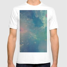 Space fall MEDIUM Mens Fitted Tee White