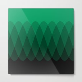 Green To Black Ombre Signal Metal Print