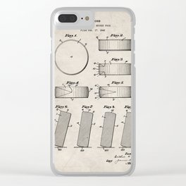 Ice Hockey Patent - Hockey Puck Art - Antique Clear iPhone Case