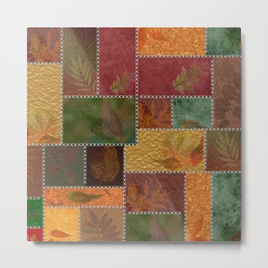 Stitches Of Autumn Metal Print