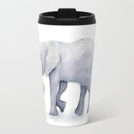Elephant Watercolor Travel Mug
