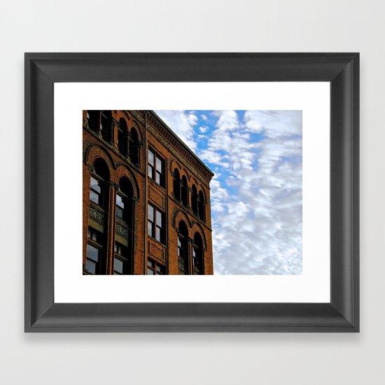 Corner of Main St. & Sky Framed Art Print