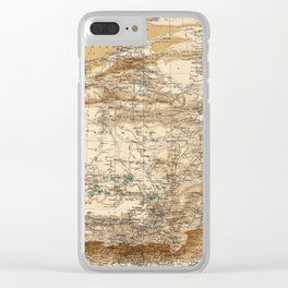 Vintage Map of Tibet (1906) Clear iPhone Case