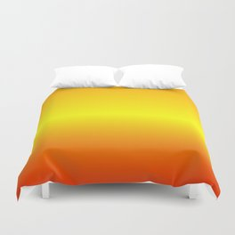 Horizontal Orange, Yellow, Red Gradient Duvet Cover